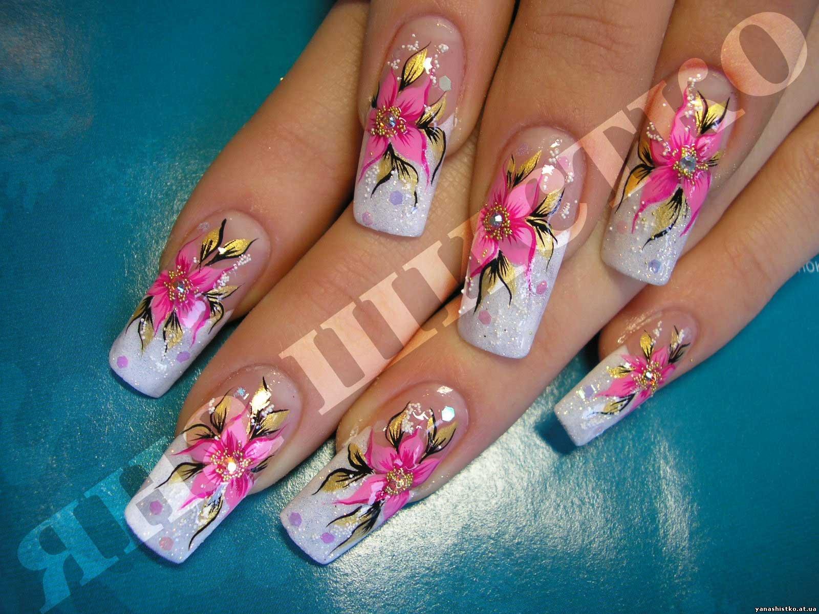 Фотогалерея роспись ногтей дизайн рисунки на ногтях